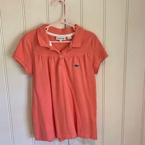 Lacoste Girls shirt size 10-peach